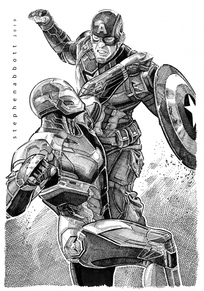 Chris Evans, Captain America, Iron Man par Stefanosart